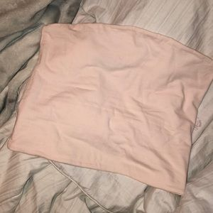 baby pink brandy melville tube top